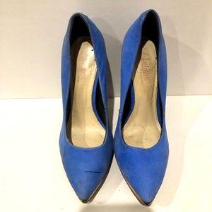 Topshop Shoes - Topshop Unique 100% Genuine Suede Studded Heels